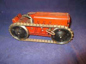 marx wind up climbing tractor tin toy good