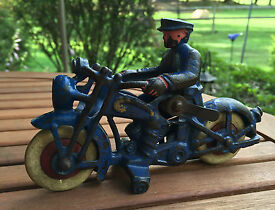 cast iron police motorcycle harley indian