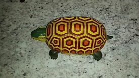 vintage antique tin turtle by