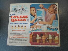 kenner freeze queen ice cream maker vintage