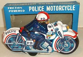 1960s japan tin litho 9 police motorcycle