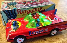 1960s red batman robin tin battery operated