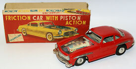rare vintage 50s tin friction sparkling car