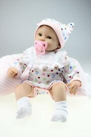 nicery reborn baby doll soft silicone 18in