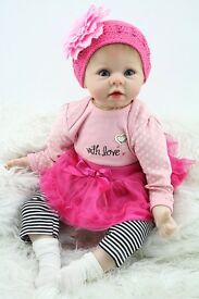 nicery reborn baby doll soft silicone girl