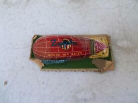 vintage 1950 s airwhale world lines tin