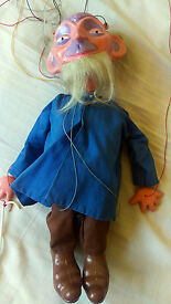 puppet old man inc walking stick 60s puppets