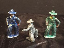 lot of 3 antique vintage lead toy soldiers