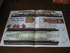 cut out toy steamboat river steamer steam