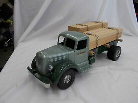 vintage lumber truck with trailer
