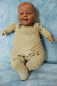 9 inch celluloid head doll turtle mark