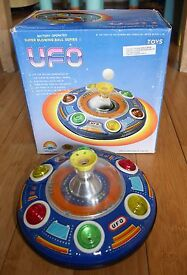 vintage ufo super blowing ball series ii tin