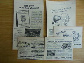 6 vintage adverts for bassett lowke ltd 1952