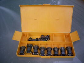 aurora t jet 11 slot car chassis lot in the