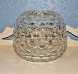vintage homco american cubed clear glass
