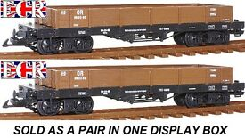 new 2 a pair g scale 45mm gauge flat bed