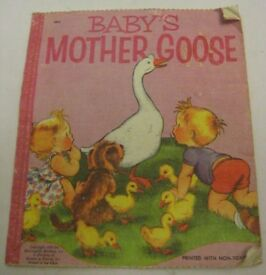 old cloth child s book baby s mother goose