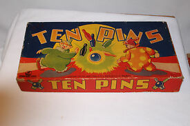1940 s ten pins wooden concord toy co