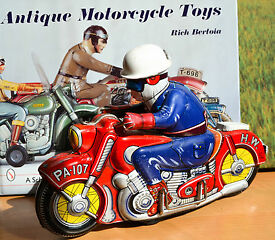 antique tin toy asahi pa107 race motorcycle