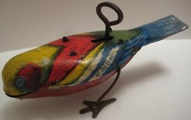 colorful antique tin w up toy pecking song