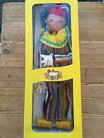 vintage puppet ss6 the clown c w box
