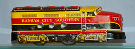 kansas city southern tin diesel locomotive w