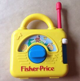 vintage fisher price wind up musical radio