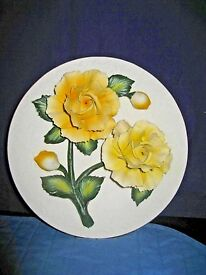 franklin mint yellow roses of plate mint in