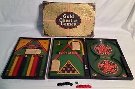 1933 gold chest of games by tool toy co