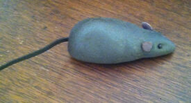 1940s textured metal mouse wind up toy by
