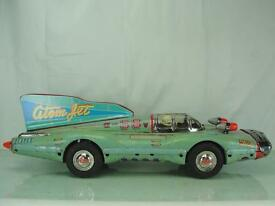 1958 large atom jet racer 27 tin toy