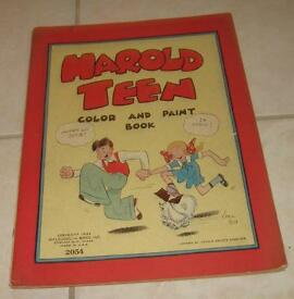 1932 bros harold teen color and paint book