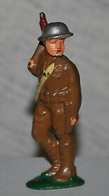 vintage barclay soldier with rifle slung