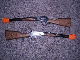 toy rifle 11 inches long 2 new