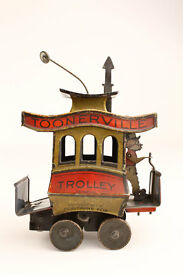 1922 toonerville trolley tin windup toy