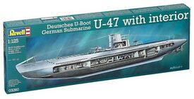 revell 1 125 german u 47 w interior plastic