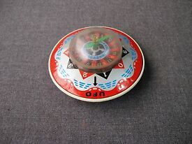 vintage japan tin plastic ufo friction