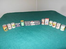 13 vintage pieces wooden food for grocery