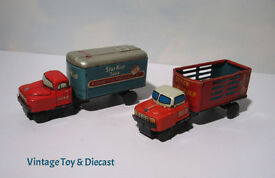 old tin friction 5 trucks star kist tuna roy