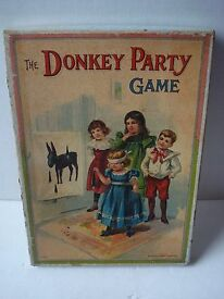 antique donkey party game mcloughlin