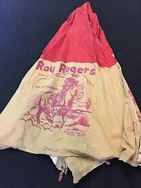 vintage roy rogers and trigger cloth teepee