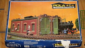 vintage lgb g scale double locomotive shed