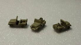 z scale jeep vehicle cast pewter for train