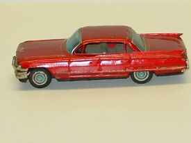 vintage bandai tin japan cadillac car rear