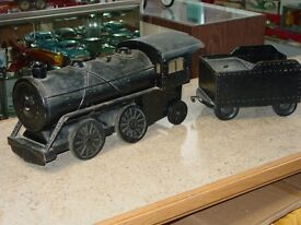 vintage cor cor toys train with coal car