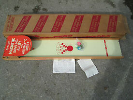 vintage magnetic bowling alley toy by spears