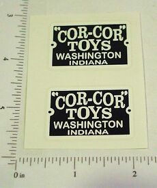 cor cor toys replacement logo stickers cc