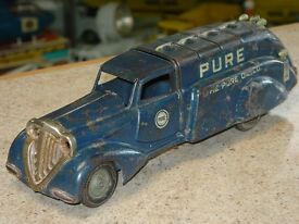 vintage pure oil co pressed steel truck toy