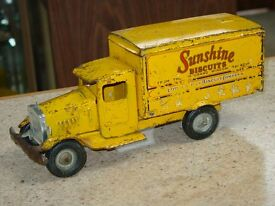 vintage sunshine biscuits truck pressed
