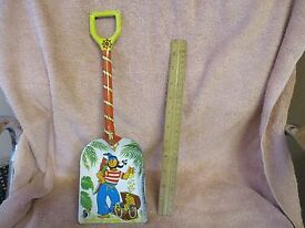 vintage tin toy shovel large 14 with pirate